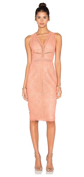 Bailey 44 Snapdragon Dress in peach - Self: 100% nylonCombo: 96% poly 4% spandex. Dry clean...