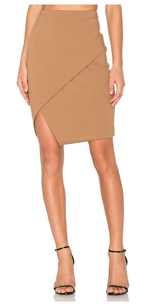 "Bailey 44 Wallace Skirt in tan - ""Self: 61% rayon 35% nylon 4% spandexContrast: 100%..."