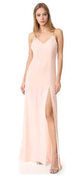 Baja East sleeveless gown in light pink - Pastel velvet gives this Baja East gown a delicate, luxe...