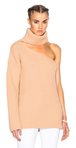 Baja East Fisherman Rib Wool Cashmere Sweater in neutrals - 65% baby wool 25% yak 10% cashmere.  Made in USA.  Hand...