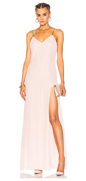 Baja East Velvet Dress in neutrals,pink - Self: 82% rayon 18% silk - Lining: 100% poly.  Made in...