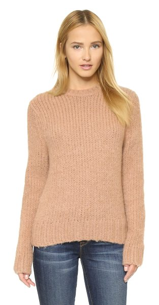 Baldwin Denim The madison sweater in camel - A brushed finish accentuates the cozy feel of a casual...