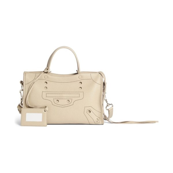 Balenciaga blackout city leather tote in beige tapioca - An ingenious way to pay tribute to an iconic Balenciaga...
