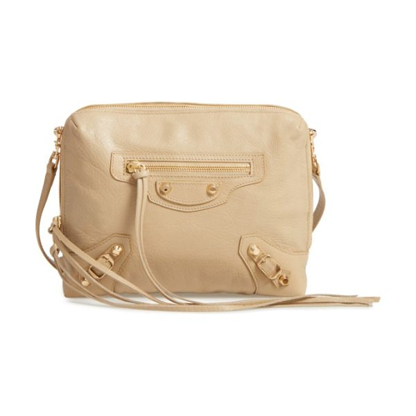 Balenciaga classic reporter leather camera bag in 2616 beige sable - A classically curvy silhouette and slim crossbody strap...