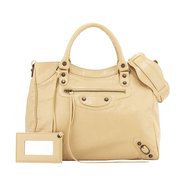 Balenciaga Classic Velo Bag in 2930beige - Beige soft lambskin with aged brass hardware, including...