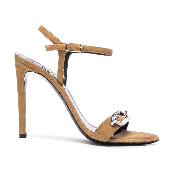 Balenciaga Daim velour sandals in neutrals - Suede velour upper with leather sole.  Made in Italy. ...
