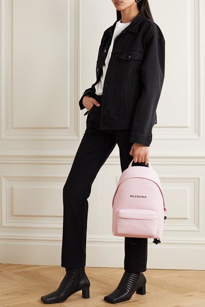 Balenciaga everyday printed leather backpack in pink