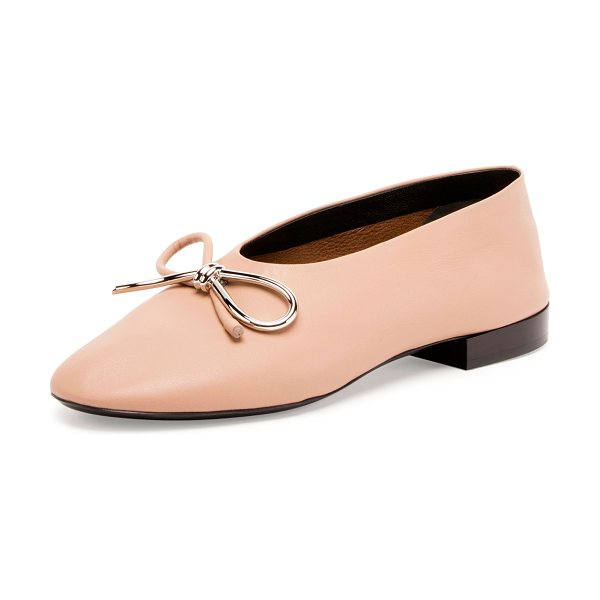 BALENCIAGA Leather Bow Ballerina Flat - ONLYATNM Only Here. Only Ours. Exclusively for You....
