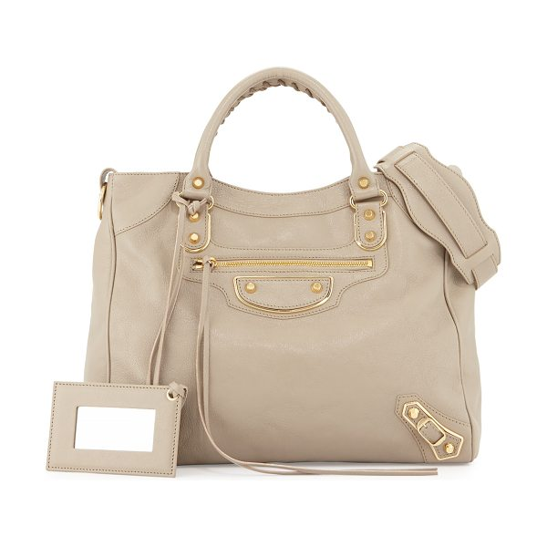 Balenciaga Metallic Edge Golden Velo AJ Bag in taupe - ONLYATNM Only Here. Only Ours. Exclusively for You....