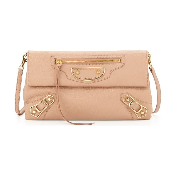 Balenciaga Metallic edge envelope crossbody bag in rose - Balenciaga sectional envelope crossbody bag in goatskin...