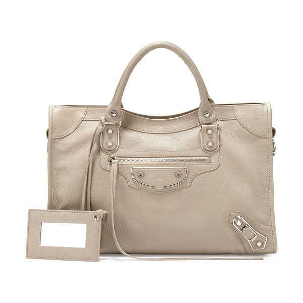 Balenciaga Metallic Edge Nickel City Bag in taupe - ONLYATNM Only Here. Only Ours. Exclusively for You....