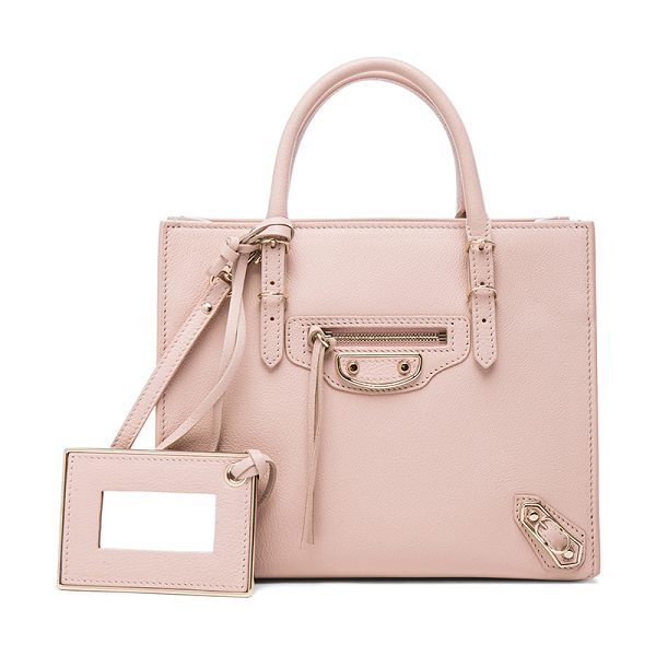 Balenciaga Papier mini a4 aj in pink,neutrals - Calfskin leather with leather lining and pale gold-tone...