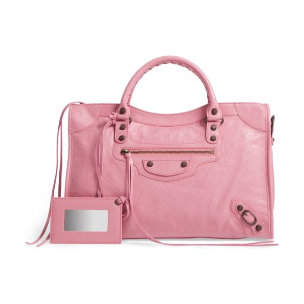 Balenciaga classic city leather tote in rose gimauve - One of the most iconic bags around, the cult-favorite...