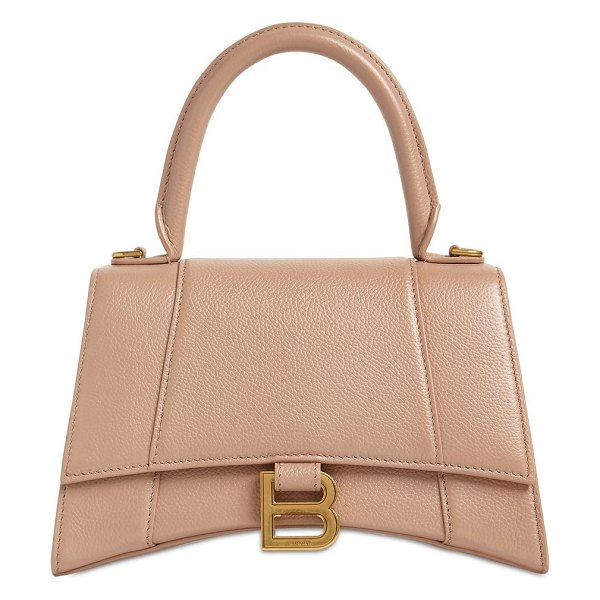 Balenciaga Sm hourglass leather bag in nude,beige