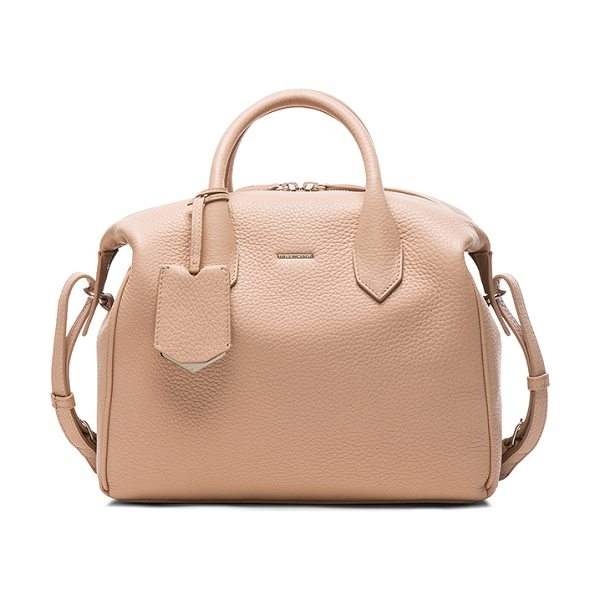 Balenciaga Infanta small boston aj in neutrals - Grained leather with grosgrain lining and silver-tone...