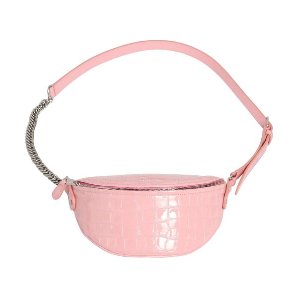 Balenciaga Xxs souvenirs patent leather belt bag in pink