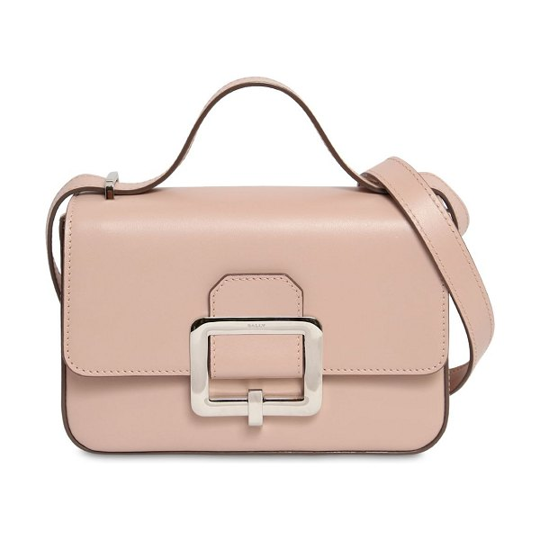 Bally Janelle leather shoulder bag in pink - Height: 14.5cm Width: 23cm Depth: 6.5cm. Shoulder strap...