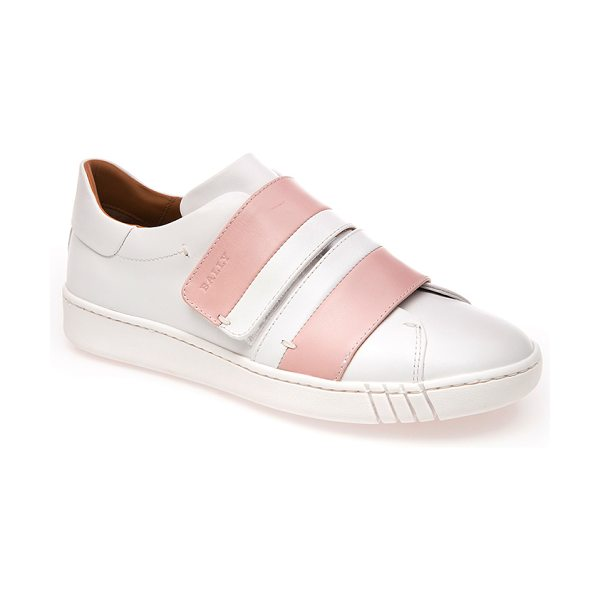 Bally Winell Stripe Sneaker in light pink - This *Bally* sneaker is rendered in leather and features...