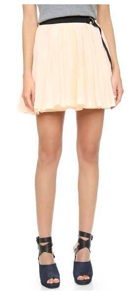 Band of Outsiders Pleated wrap skirt in nude