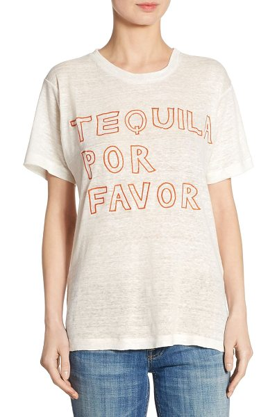 BANNER DAY tequila por favor linen tee - EXCLUSIVELY AT SAKS FIFTH AVENUE. Embroidered tee...