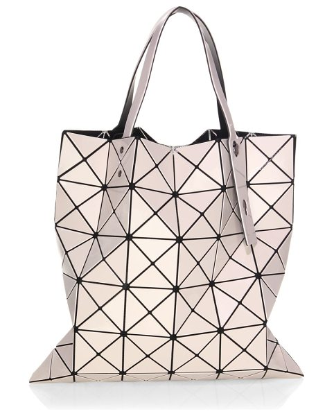 Bao Bao Issey Miyake lucent basic tote in beige - Statement-making tote featuring geometric pattern....