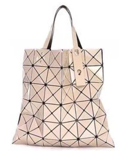 Bao Bao Issey Miyake lucent color tote in beige pink beige - This geometric tote bag with the flexible origami design...
