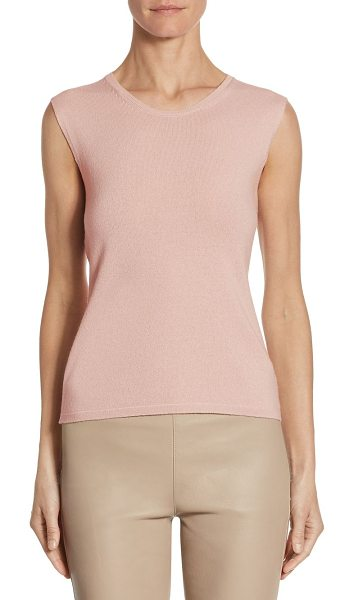 Barbara Lohmann one cashmere tank top in bellini - A soft cashmere tank top for a casual and comfortable...