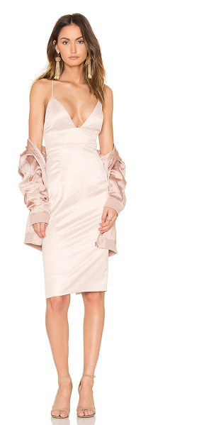 Bardot After Party Dress in pink - Poly blend. Hand wash cold. Adjustable crisscross...