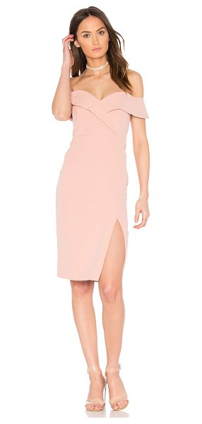 Bardot Bella Midi Dress in peach - Self & Lining: 95% poly 5% elastane. Hand wash cold....