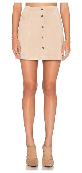 Bardot Blondie suede skirt in beige - Genuine leather. Professional leather clean only. Skirt...