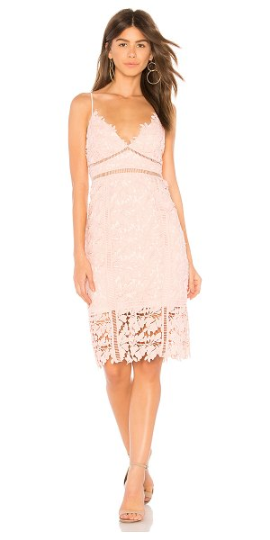 Bardot Botanica Lace Dress in pink - Self & Trim: 100% polyLining: 95% poly 5% elastane. Dry...