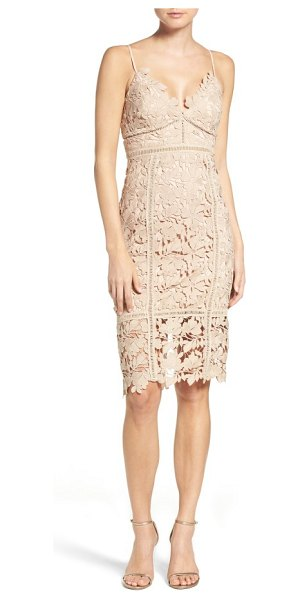 Bardot botanica lace dress in beige - This lacy cocktail dress flatters and flaunts your...