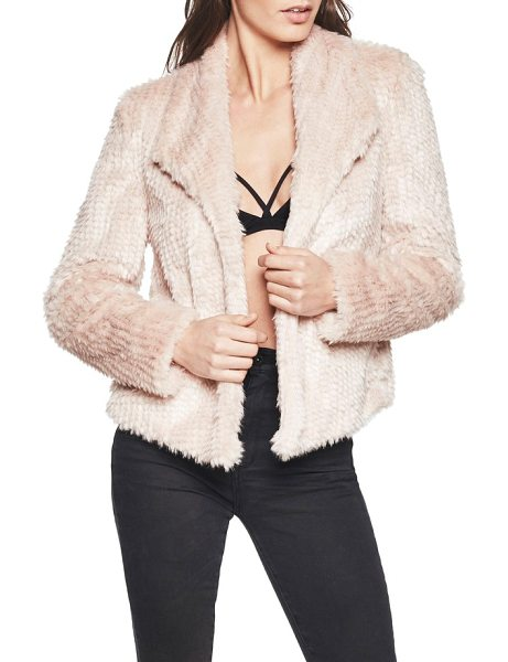 Bardot faux fur jacket in peony - Add a little texture to your look with this open-front...