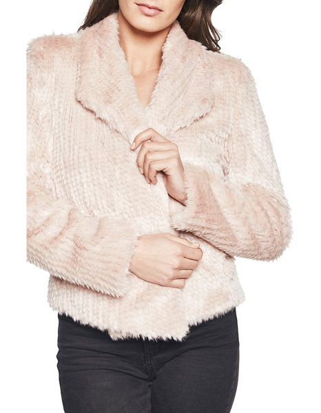 BARDOT faux fur jacket - Add a little texture to your look with this open-front...