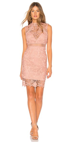 BARDOT Lace Dress in mauve - Self: 100% polyLining: 95% 5% elastane. Hand wash cold....
