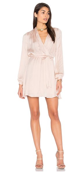 Bardot Miranda Wrap Dress in blush - Self & Lining: 100% poly. Hand wash cold. Fully lined....