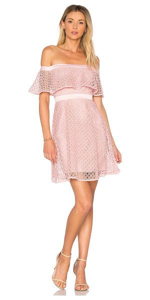 "BARDOT Off Shoulder Lace Dress - ""Self: 100% polyContrast: 97% poly 3% elastaneLining:..."