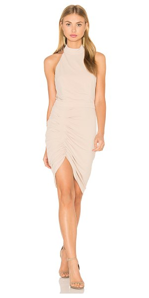 Bardot Sheba Dress in tan - Self: 95% poly 5% elastaneLining: 100% poly. Fully...