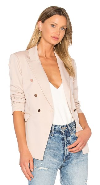 Bardot Tailored Blazer in beige - Self: 80% poly 18% viscose 2% elastaneContrast: 95%...