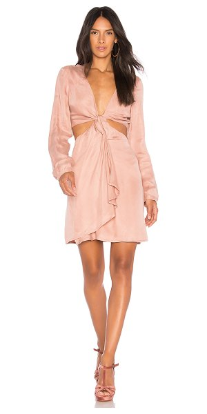 Bardot Twist Satin Dress in rose - Self: 60% cupro 40% viscoseLining: 100% poly. Hand wash...