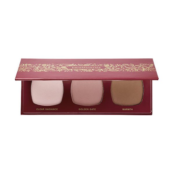bareMinerals the royal court ready™ face color trio - A face trio with a blush, luminizer, and an all-over...