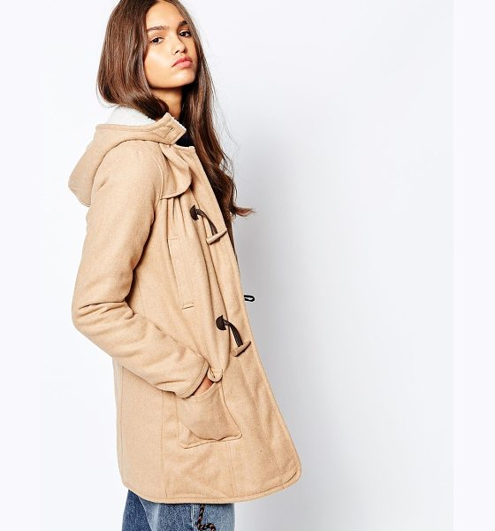 Barney's Originals Melton wool duffel coat in camel - Coat by Barney's Originals Woven wool-mix fabric Fixed...