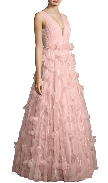 Basix Black Label floral ball gown in soft pink