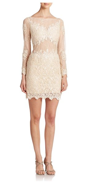 Basix Black Label French lace dress in champagne
