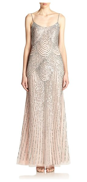 BASIX BLACK LABEL sequined slip gown - Body-skimming slip gown with sequined embellishment in...