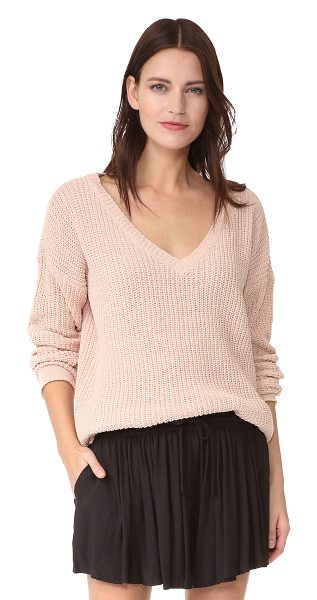 BB Dakota barlow sweater in blush - A tunic-length BB Dakota sweater, composed of ribbed...