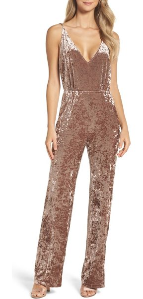 BB Dakota cassandra velvet jumpsuit in antique rose - With a simple silhouette and a plunging neckline, this...
