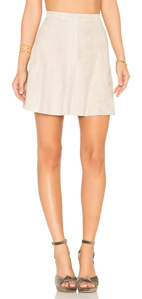BB Dakota Caswell Skirt in beige - 92% poly 8% spandex. Hand wash cold. Unlined. Suede...