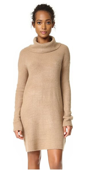 BB Dakota collins sweater dress in camel - A super-soft BB Dakota turtleneck sweater dress with a...