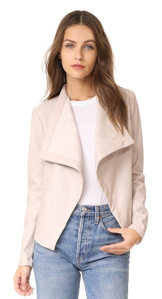 BB Dakota gracelyn drape front jacket in latte